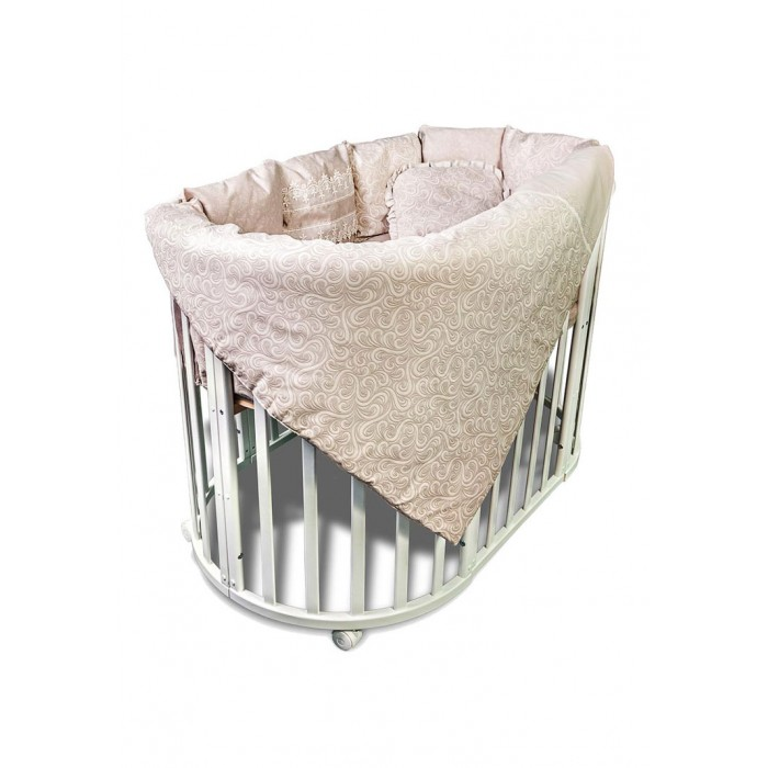 Купить Комплекты в кроватку, Комплект в кроватку Сонный гномик круглую Версаль (4 предмета)