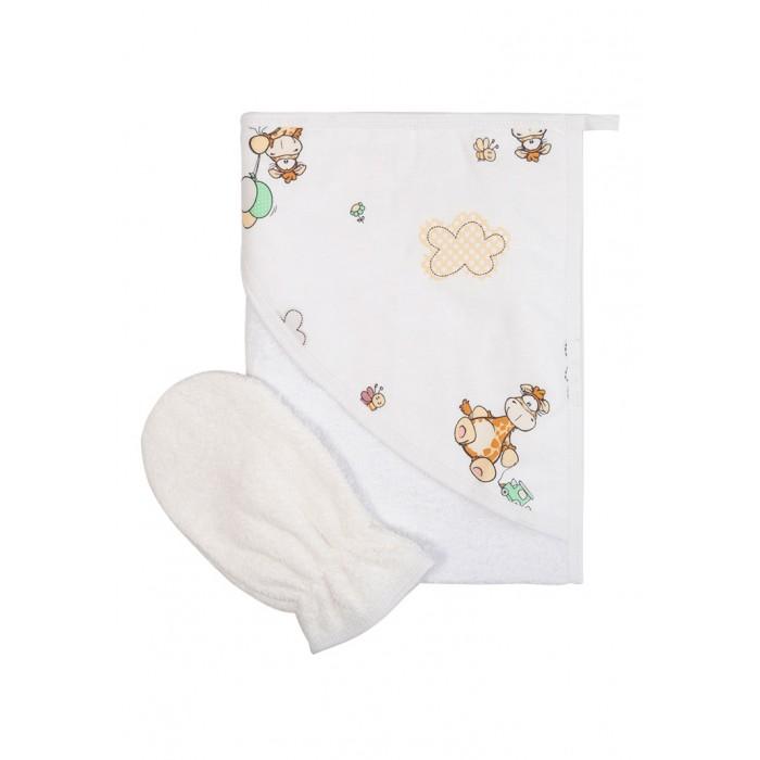 Сонный гномик Махровое полотенце с рукавичкой