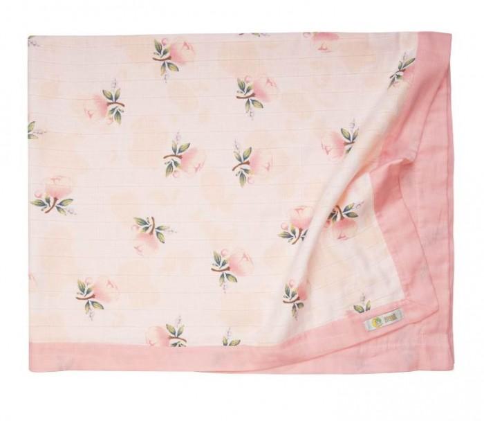 Фото - Пледы Сонный гномик муслиновый Розы 122х100 см пледы сонный гномик зефир