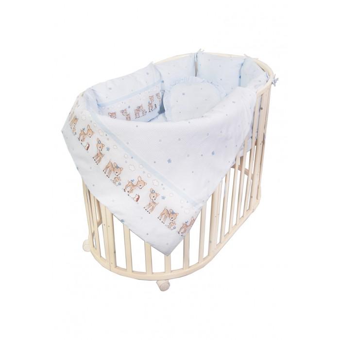 Комплект в кроватку Сонный гномик Оленята с бортами-подушками (7 предметов)