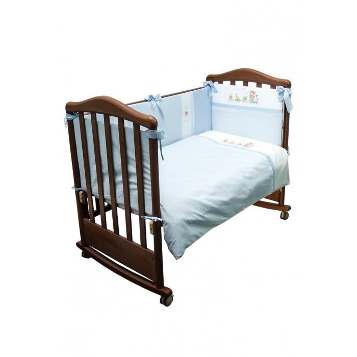 Постельные принадлежности , Комплекты в кроватку Сонный гномик Паровозик (6 предметов) арт: 533941 -  Комплекты в кроватку