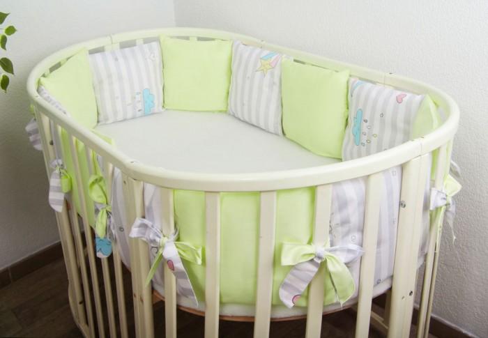 Фото - Бортики в кроватку Сонный гномик Серебряная нить подушки бортики в кроватку сонный гномик серебряная нить
