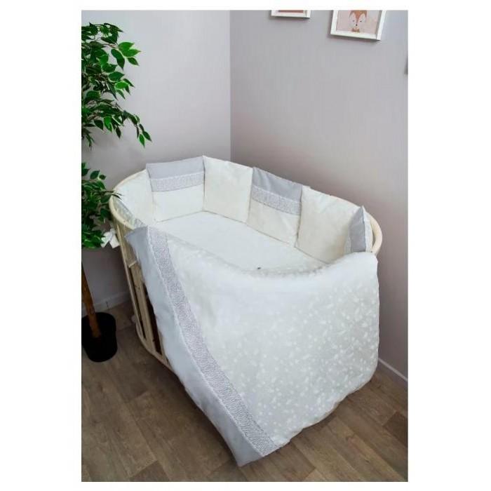 Комплект в кроватку Сонный гномик Тридцать три Короны с бортами-подушками (6 предметов)