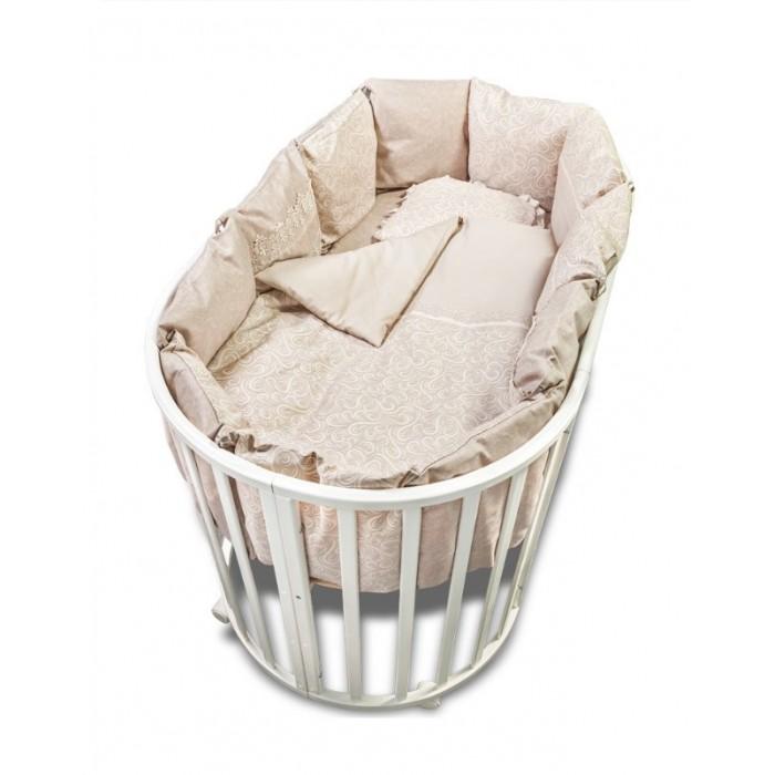 Купить Комплекты в кроватку, Комплект в кроватку Сонный гномик Версаль с бортиками-подушками (7 предметов)