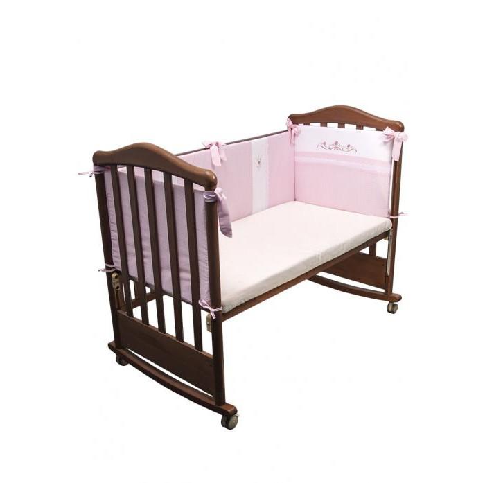 Бортики в кроватку Сонный гномик Прованс сонный гномик борт в кроватку прованс сонный гномик розовый