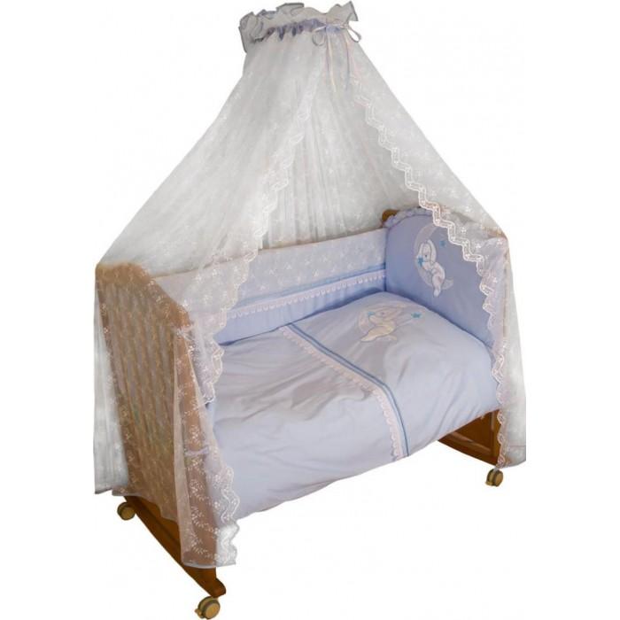 Постельные принадлежности , Бортики в кроватку Сонный гномик Лунный зай 120х60 арт: 17875 -  Бортики в кроватку