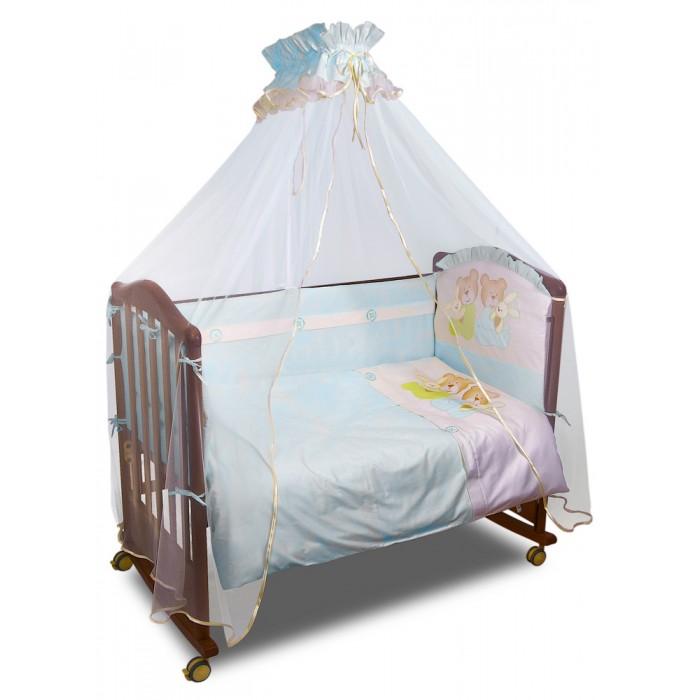 Комплект в кроватку Сонный гномик Пуговки (7 предметов)