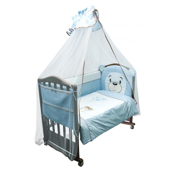 Бампер для кроватки Сонный гномик УмкаУмкаБортик в кроватку коллекция Умка (Сонный гномик)  Особенности: высокий бортик из 4х частей, высотой 42 см, по всему периметру кроватки съёмные чехлы для более лёгкой стирки состав ткани: Ранфорс, 100% хлопок декор аппликацией деликатные швы, рассчитанные на прикосновение к нежной коже ребёнка наполнитель ХоллКон плотностью 500 для кроватки размером 120х60 см  По составу, ранфорс на 100% состоит из натурального хлопка. Отличается от остальных типов тканей повышенной плотностью. По своей плотности плетения этот материал превосходит бязь. На ощупь ранфорс напоминает бязь. Но если у бязи количество переплетений на один квадратный сантиметр составляет 42 единицы, у ранфорса данный показатель достигает 53, что говорит в первую очередь о более высокой прочности ткани.<br>