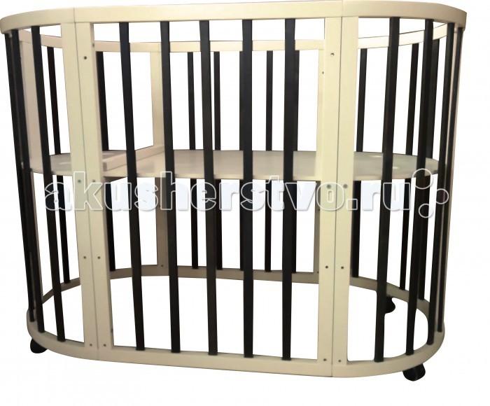 Кроватка-трансформер Соня 02 Овальная 8 в 1 65х125 см