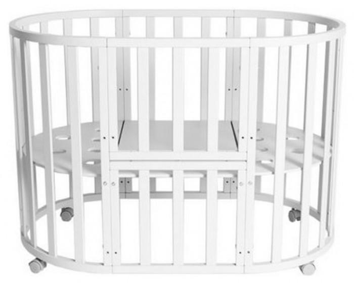Купить Кроватки-трансформеры, Кроватка-трансформер Соня 02 Овальная 8 в 1 75х125 см
