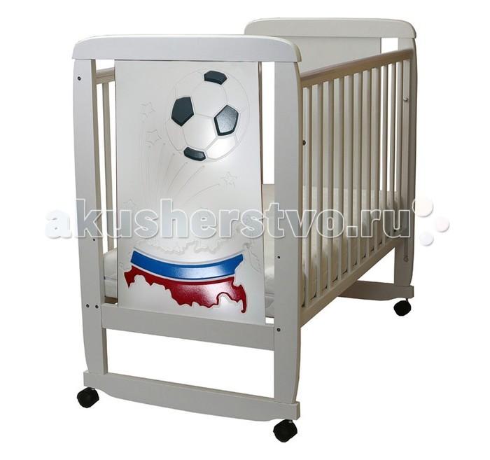 Детская мебель , Детские кроватки Соня 02 Триколор 3D арт: 458481 -  Детские кроватки
