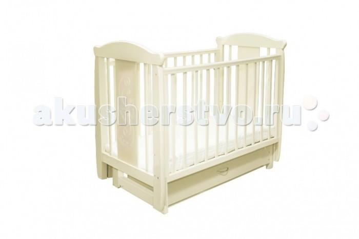 Детская кроватка Соня 04 Бабочка (поперечный маятник) с ящиком