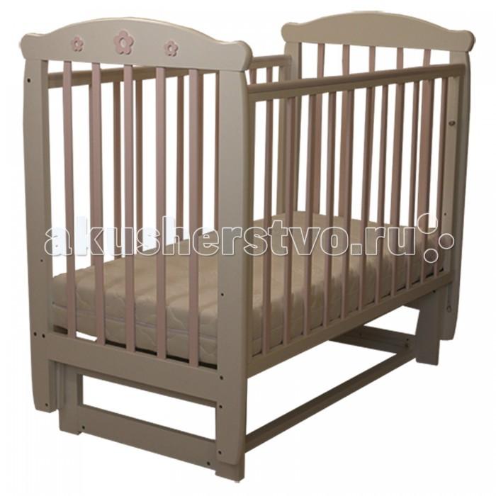 Детская мебель , Детские кроватки Соня 04 Цветочек (поперечный маятник) арт: 458616 -  Детские кроватки