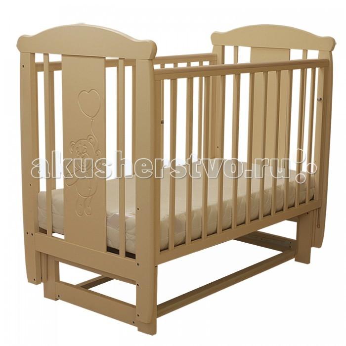 Детская кроватка Соня 04 Мишка (поперечный маятник)