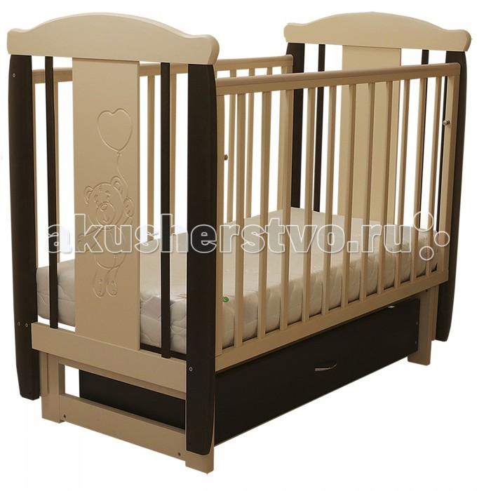 Детские кроватки Соня 04 Мишка с ящиком (поперечный маятник) детские кроватки фея 603 с ящиком