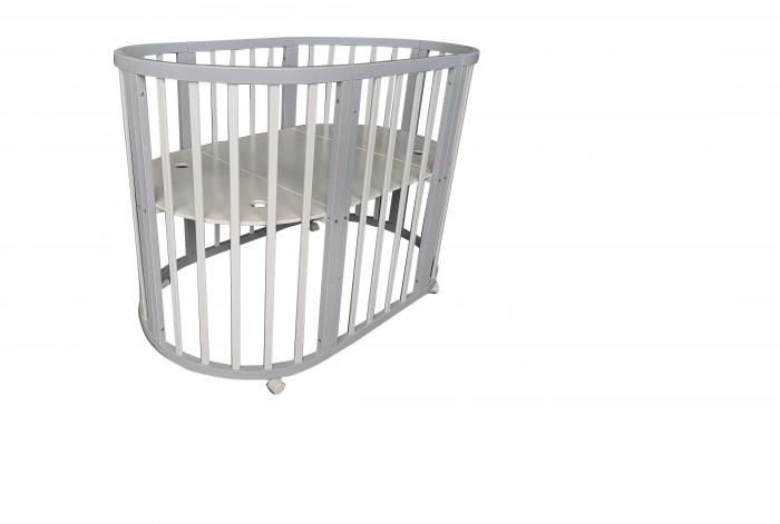 Купить Кроватки-трансформеры, Кроватка-трансформер Соня 04 Овальная 8 в 1 маятник поперечный 75х125 см
