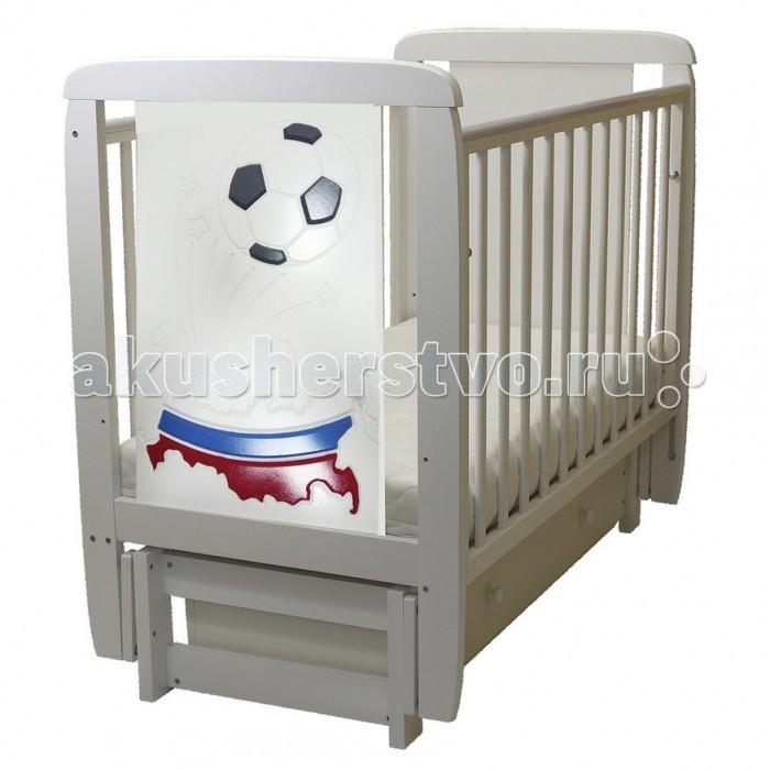 Детская мебель , Детские кроватки Соня 04 Триколор с ящиком (поперечный маятник) арт: 458631 -  Детские кроватки