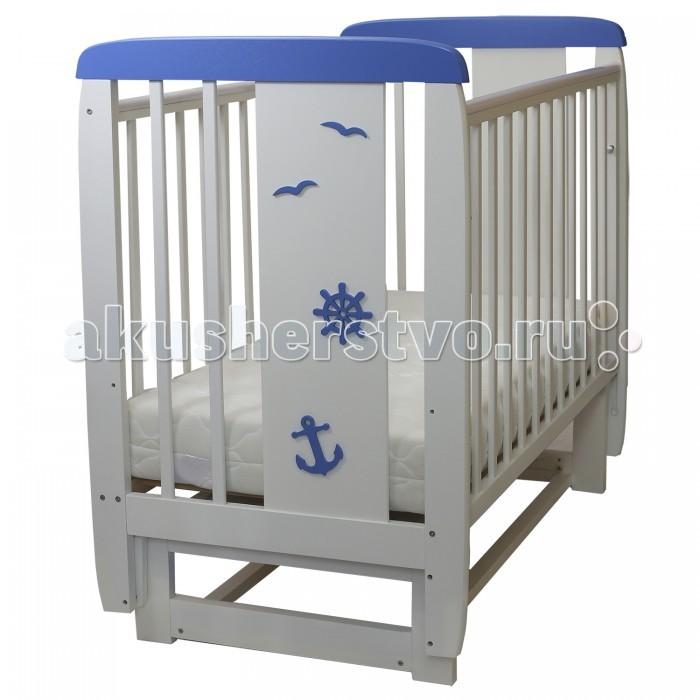 Детская мебель , Детские кроватки Соня 04 Юнга (поперечный маятник) арт: 458641 -  Детские кроватки