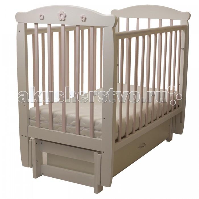 Детская мебель , Детские кроватки Соня 05 Цветочек 3D с ящиком (поперечный маятник) арт: 458681 -  Детские кроватки