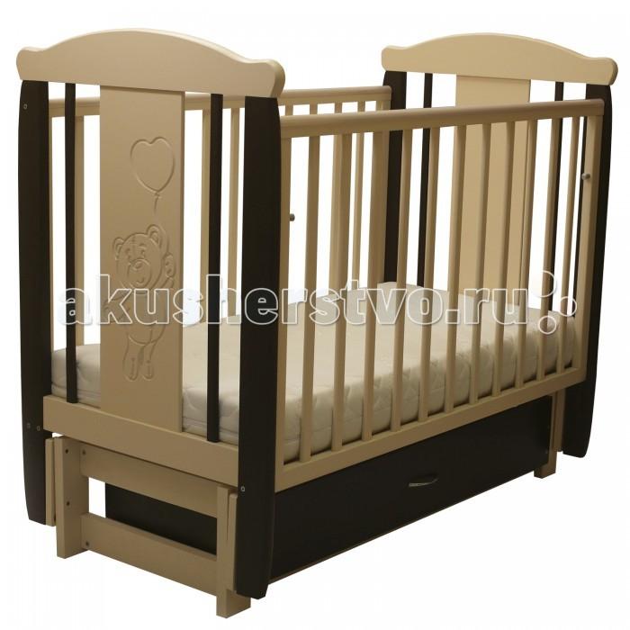 Детские кроватки Соня 05 Мишка с ящиком (продольный маятник) детские кроватки kitelli kito amore продольный маятник