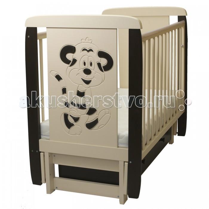Детская мебель , Детские кроватки Соня 05 Тигренок 3D с ящиком (поперечный маятник) арт: 458666 -  Детские кроватки