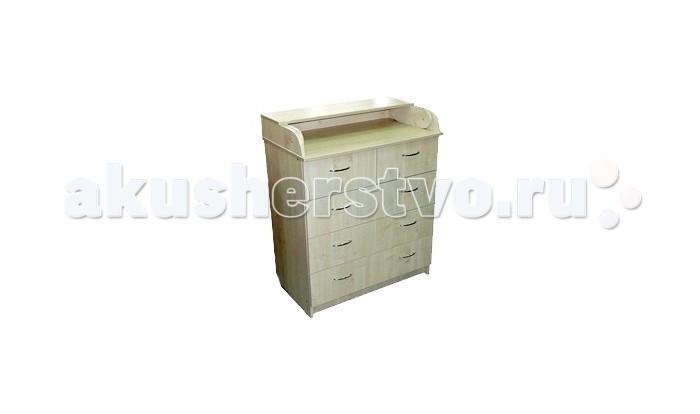 Картинка для Комод Соня 80/5 ЛДСП пеленальный (5 ящиков)