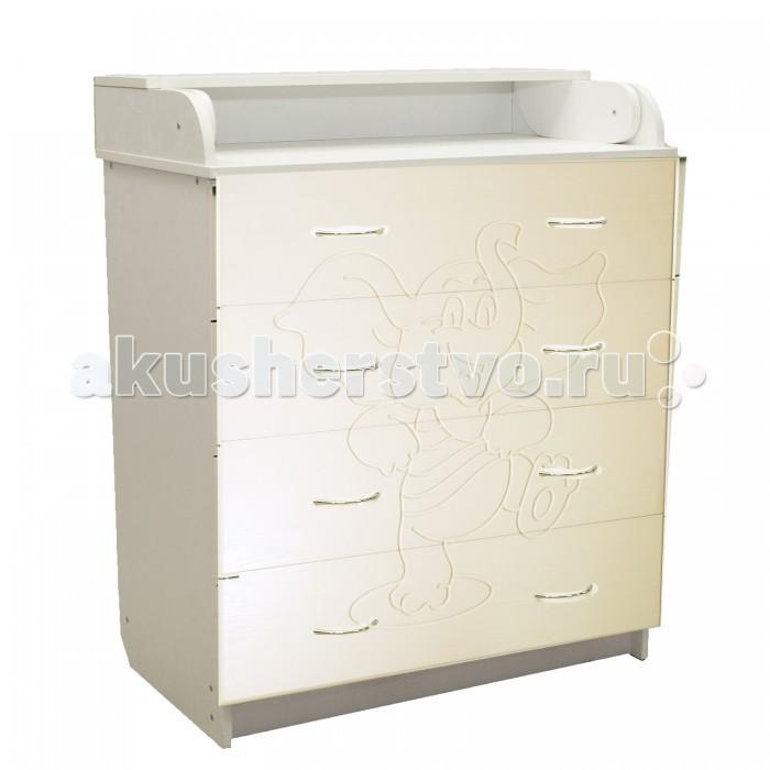 Детская мебель , Комоды Соня Слоник пеленальный (4 ящика) арт: 458381 -  Комоды