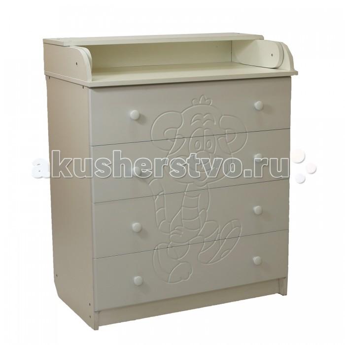 Детская мебель , Комоды Соня Тигренок пеленальный (4 ящика) арт: 458391 -  Комоды