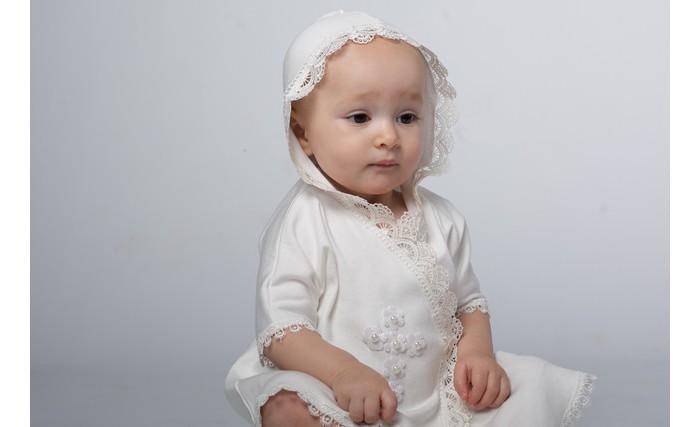 Крестильная одежда Soon-mom Крестильное платье для девочки Ажурное