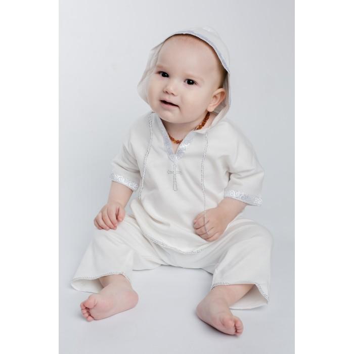 Крестильная одежда Soon-mom Крестильный набор для мальчика (рубашка и штаны) KN001