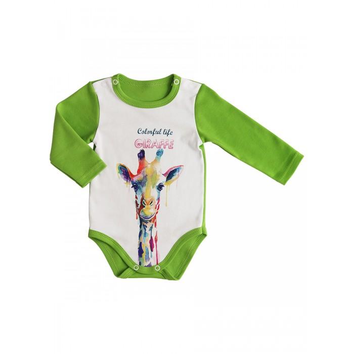 Боди, песочники, комбинезоны СовёнокЯ Боди для новорожденного Жираф