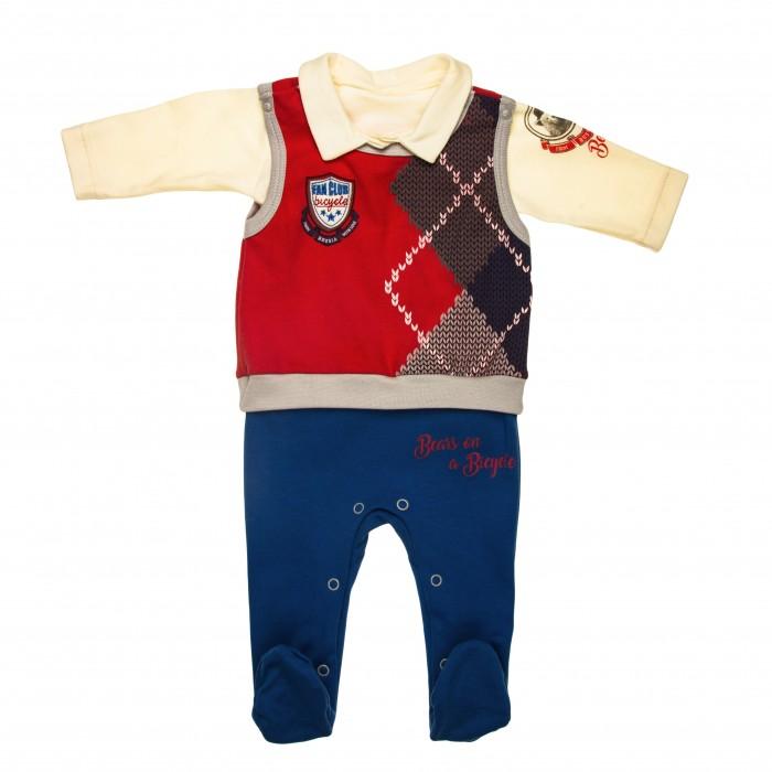 Детская одежда , Комплекты детской одежды СовёнокЯ Костюм Медведи на велосипеде арт: 537356 -  Комплекты детской одежды