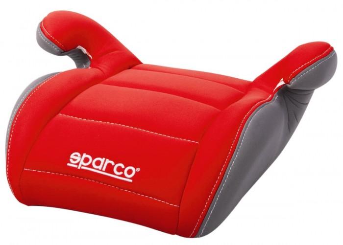 Бустер Sparco F100KF100KБустер Sparco F100K имеет спортивный дизайн, разработанный итальянскими дизайнерами.  Особенности: Достаточно широкое сидение позволяет удобно расположиться в нем малышу любой комплекции Материал кресел легко снимается и может стираться в любой стиральной машине  Материал обладает гипоаллергенными свойствами и не вызывает раздражений Каркас выполнен из специально разработанного не колющегося пластика, который при ДТП максимально погасит силу удара и тем самым максимально защищает ребенка от травм и ушибов Максимально усиленная защита от бокового удара, боковая защита таза<br>