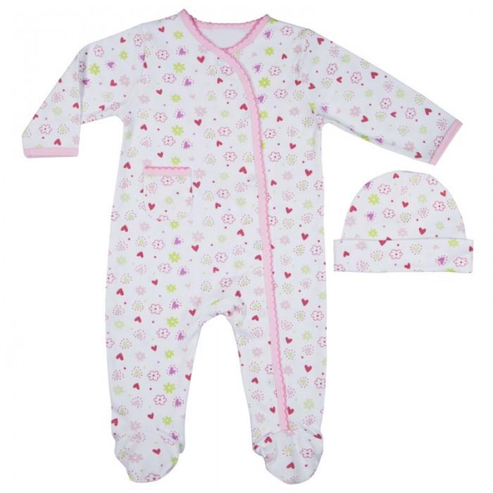 Комплекты детской одежды Spasilk Комплект Комбинезон и шапочка SL A1P комплект боди spasilk on a1p