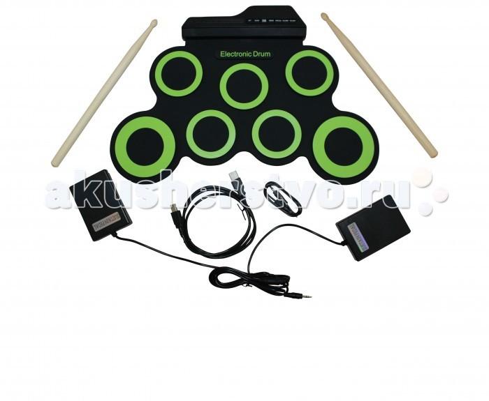 Музыкальная игрушка SpeedRoll Барабаны гибкие G3002Барабаны гибкие G3002SpeedRoll Барабаны гибкие G3002 для детей от 3-х лет.  Особенности: 7 Основных Панелей: 1 малый барабан, 3 TOMS , 1 краш, 1 RIDE, 2 педали: HI-HATи KICK 4 режима: POP, ROCK, LATIN, ELECTRO Педаль HI-HAT издает звук как у настоящего барабана Звук малого барабана и HI-HAT панели можно переключать между собой, для удобства 4 песен и 3 типа щелчков Без встроенных колонок Материал: Не токсичный, безвредный для окружающей среды силикон, водонепроницаемый на все 100% Выход: DC9V 2.5W Вход: DC5V 2.5W В комплекте: Барабан Ролл, Инструкция, Чехол для барабана, 2 шт Барабанные палочки<br>