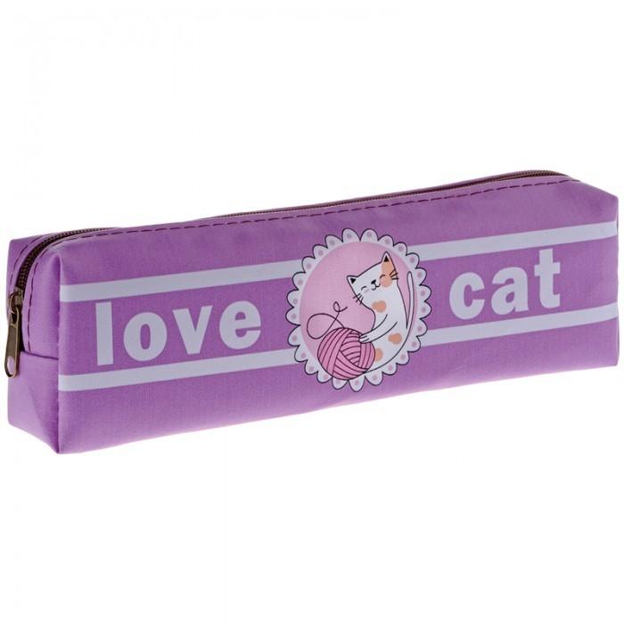 Пеналы Спейс Пенал мягкий 1 отделение ArtSpace Love cat 20x5x4 см