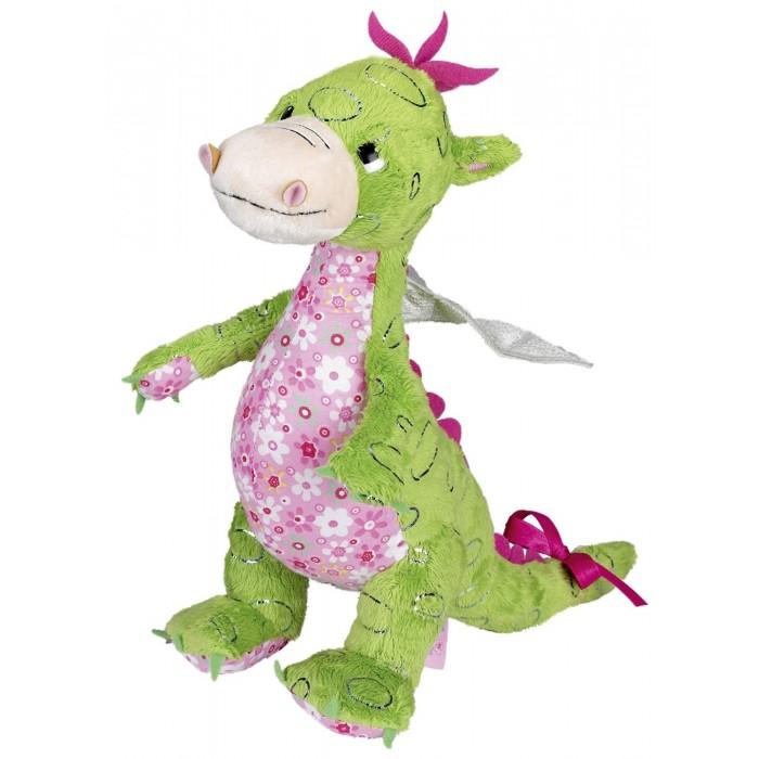 Мягкая игрушка Spiegelburg Дракончик MiraДракончик MiraSpiegelburg Дракончик Mira очаровательный плюшевый дракончик из сказочного королевства принцессы Лиллифеи.   Игрушка изготовлена из качественных материалов и имеет подвижные конечности. Этот замечательный зеленый дракончик с розовым бантиком на хвосте станет отличным подарком для малыша.   С ним можно играть и спать в обнимку, а также он послужит прекрасным украшением интерьера любой детской комнаты.<br>