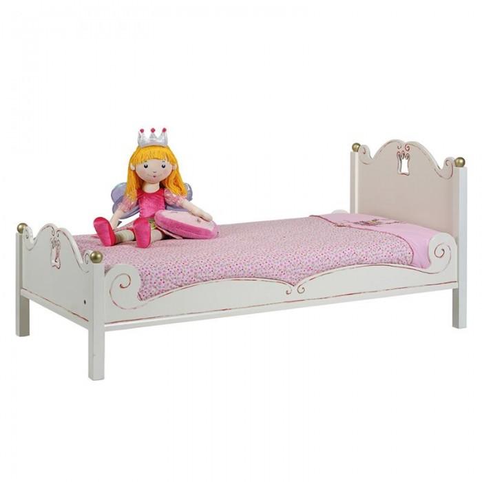 Детская кроватка Spiegelburg Prinzessin 90х200 смPrinzessin 90х200 смДетская кроватка Spiegelburg Prinzessin 90х200 см  Кровать выполнена в нежном романтичном дизайне и станет настоящим королевским ложем для маленькой принцессы.  Особенности: крепкая надежная конструкция оригинальный дизайн красивое резное изголовье не имеет острых углов идеально вписывается в интерьер современной детской комнаты Спальное место: 90 х 200 см<br>