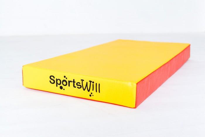 Спортивный инвентарь SportsWill Спортивный мат 100х50х10 см спортивный инвентарь кмс спортивный мат 1 100х50х10 см