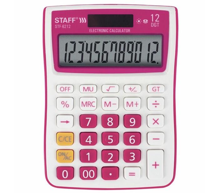 Купить Канцелярия, Staff Калькулятор настольный STF-6212