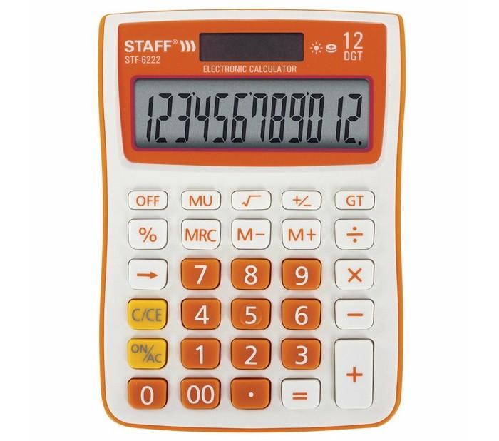Купить Канцелярия, Staff Калькулятор настольный STF-6222
