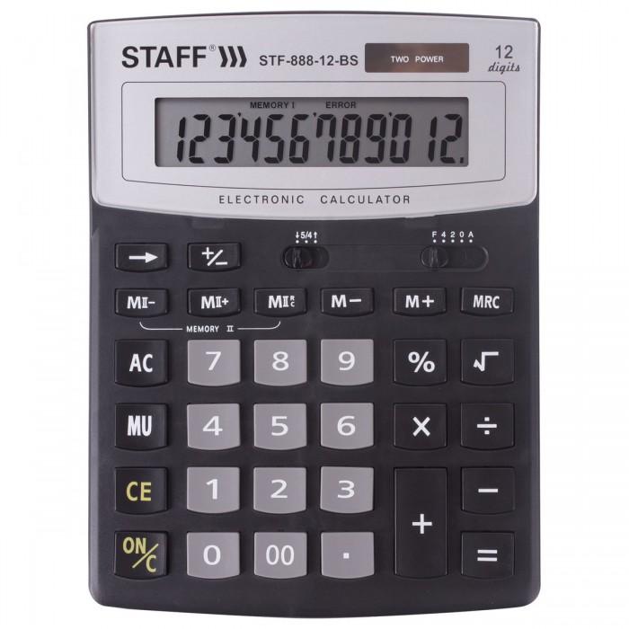 Купить Канцелярия, Staff Калькулятор настольный STF-888-12 12 разрядов