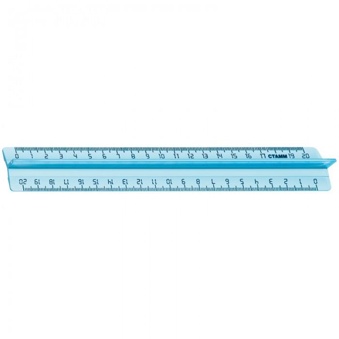 Канцелярия Стамм Линейка 20 см Cristal с держателем канцелярия стамм линейка 30 см