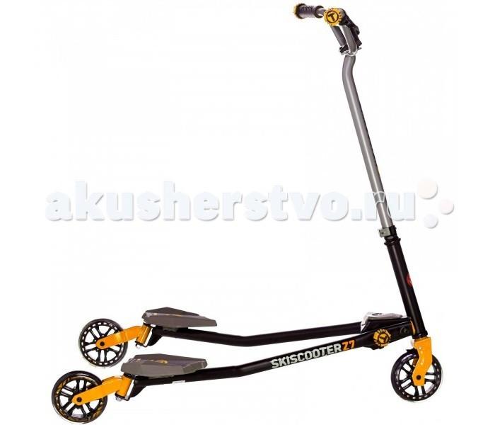 Трехколесный самокат Smart Trike Скутер Ski Z7Скутер Ski Z7Smart Trike Скутер Ski Z7 - этот стильный трехколесный самокат предназначен для детей в возрасте 5 лет и старше. Скай Скутер легко ездит по любому рельефу местности, а его уникальная конструкция позволяет снизить давление на колени ребенка. Все соединения самоката надежно закрепляются при его сборке, он имеет технологию динамической регулировки положения Flex. Скутер имеет широкий угол наклона – это идеально подходит для поворотов.  При необходимости Скай Скутер Smart Trike Z7 легко и быстро складывается, занимает немного места для хранения, что важно при перевозке в общественном транспорте.   Трехколесный самокат Smart Trike Z7 имитирует езду на лыжах, при катании адаптируется к естественному движению тела ребенка. Устойчивая и надежная конструкция самоката, нескользящие ручки и подножка обеспечивают безопасность при передвижении. Данная модель развивает двигательные навыки, способность к равновесию и формирует у ребенка уверенность в себе.   Размеры: 101 x 69 x 98 см<br>