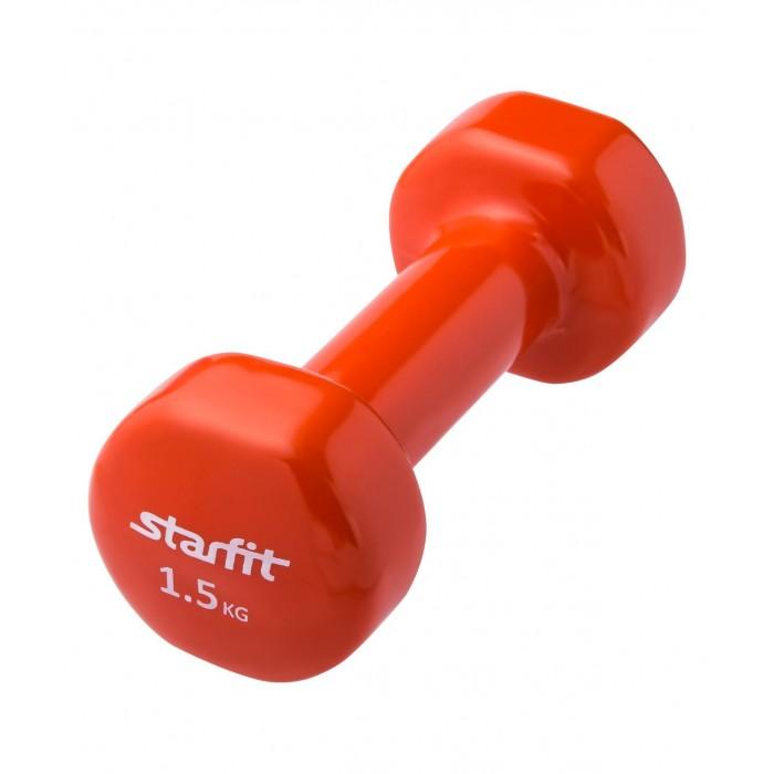 Спортивный инвентарь Starfit Гантель виниловая DB-101 1.5 кг цена