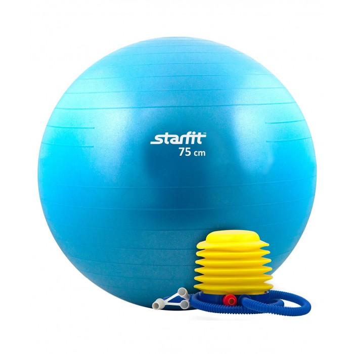 Мячи Starfit Мяч гимнастический Антивзрыв с насосом GB-102 75 см starfit bk 102 racer