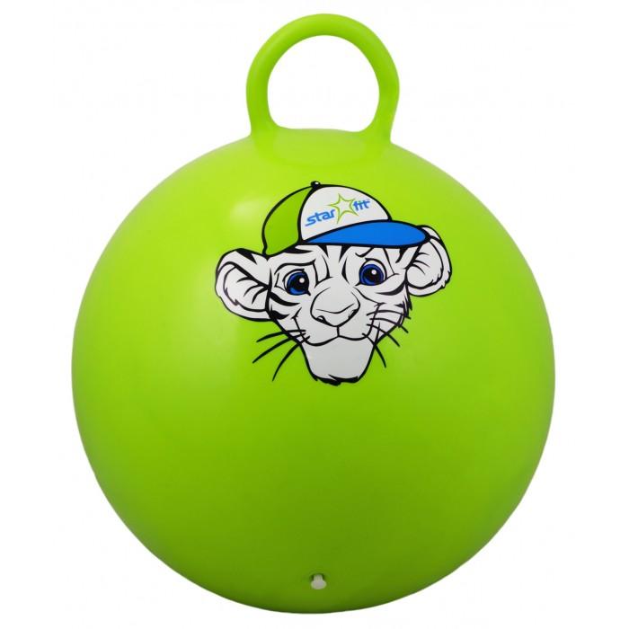Мячи Starfit Мяч-попрыгун с ручкой Тигренок GB-401 55 см мячи starfit мяч массажный gb 601 8 см