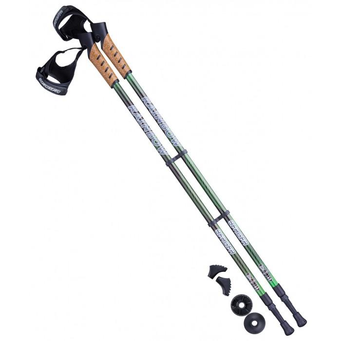 Спортивный инвентарь Starfit Палки для скандинавской ходьбы Berge Rainbow 77-135 см