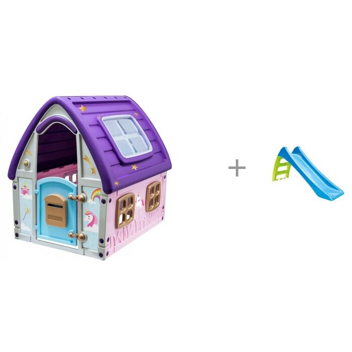 Купить Игровые домики, Starplast Игровой домик Сказочный и горка Mochtoys toys малая