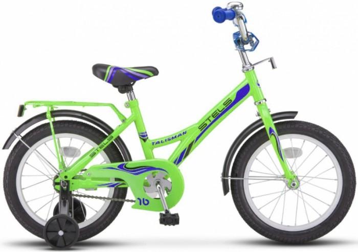 Велосипед двухколесный Stels 14 Talisman Z010Двухколесные велосипеды<br>Stels Велосипед 14 Talisman Z010 порадует юных гонщиков в  возрасте от 3 до 5 лет.   Комфортная посадка, яркие цвета велосипеда порадуют как девочек так и для мальчиков, а дополнительные колеса помогут в обучении.   Велосипед оснащен удлиненными крыльями, которые помогут защитить ребенка от нежелательных брызг во время катания после дождя.   Также велосипед оснащен  стальной рамой, жесткой вилкой, одинарными ободами из алюминия, трёхкомпонентными шатунами, высоким рулем.   Задний ножной тормоз надежный и прост в  использовании.   В комплект велосипеда входят: полная защита цепи, мягкая накладка на руле, стальные крылья, багажник, звонок.   Диаметр колес - 14 дюймов.